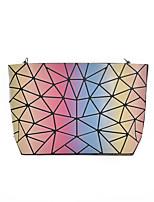 Women Bags All Seasons PVC Shoulder Bag Zipper for Casual Blushing Pink