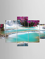 Stretched Canvas Print Five Panels Any Shape Print Wall Decor For Home Decoration
