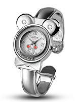 Women's Fashion Watch Simulated Diamond Watch Unique Creative Watch Chinese Quartz Alloy Band Bangle Silver