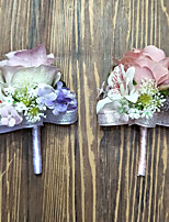 Wedding Flowers Boutonnieres Wedding Polyester 3.94