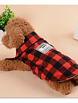 Dog Vest Dog Clothes Casual/Daily Plaid/Check Blue Red