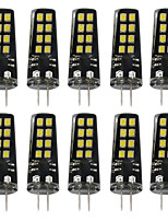 10 3W G4 LED Bi-pin Lights 16 leds SMD 2835 Warm White White 200lm 3000-3500  6000-6500K DC 12V