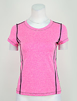 Running T-Shirt T-shirt Top for Yoga Exercise & Fitness Running Modal Polyester Slim Purple Fuchsia S M L XL