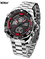 SINOBI Herrn Sportuhr Militäruhr Armbanduhren für den Alltag Japanisch digital LED Kalender Duale Zeitzonen Alarm Stopuhr Schockresistent