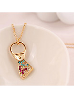 Women's Pendant Necklaces Rhinestone Alloy Fashion Personalized Jewelry For Gift Daily