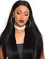 Women Human Hair Lace Wig Full Lace Wigs 180% Density Straight Wigs Brazilian Hair Black Long
