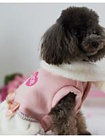Hund Kleider Hundekleidung Lässig/Alltäglich Schleife Rosa