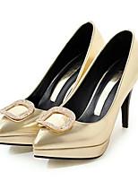Femme Chaussures Polyuréthane Printemps Automne Confort Nouveauté Chaussures de mariage Talon Aiguille Bout pointu Strass Rivet Pour