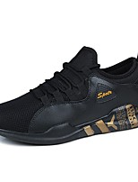 Men's Shoes Tulle Spring Summer Comfort Sneakers Lace-up For Casual Outdoor Black/Blue Black/White Black/Gold White