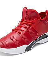 Men's Shoes PU Spring Fall Comfort Light Soles Athletic Shoes Lace-up For Athletic Casual Red Black White