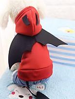 Cane Costumi T-shirt Felpe con cappuccio Abbigliamento per cani Casual Jeans Rosso