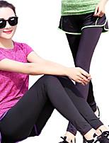 Yoga & Dansesko Bukser Underdele Hurtigtørrende Åndbarhed Letvægt Strækkende Strækkende Sportstøj Dame-丰途,Yoga Løbe Pilates Fitness
