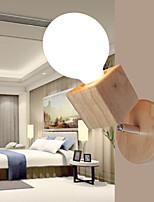 AC 220-240 E27 Модерн Дерево Особенность Рассеянный настенный светильник