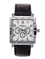 Men's Dress Watch Fashion Watch Wrist watch Chinese Quartz PU Band Charm Elegant Casual Black Brown