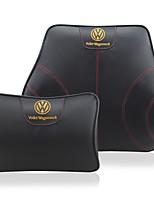 Automobile Kits de coussin de repose-tête et de taille Pour Volkswagen Toutes les Années Tous les modèles Coussins de Voiture Cuir