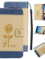 Case For Samsung Galaxy Note 8 Wallet Card Holder with Stand Flip Pattern Full Body Flower Hard PU Leather for Note 8 Note 5 Note 4