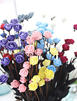 Colorful Fashion Man-made Small Rose Bouquet PE Plant Flower Ornament 10 Branch
