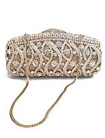 Damen Taschen Frühling Herbst Metall Abendtasche Kristall Verzierung für Veranstaltung / Fest Gold