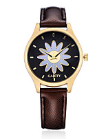 Damen Kleideruhr Modeuhr Armbanduhr Armbanduhren für den Alltag Chinesisch Quartz PU Band Süßigkeit Blume Bettelarmband Elegante Bequem