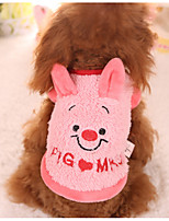 Dog Sweatshirt Dog Clothes Casual/Daily Cartoon Blushing Pink
