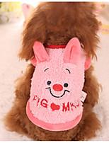Cane Felpa Abbigliamento per cani Casual Cartoni animati Rosa