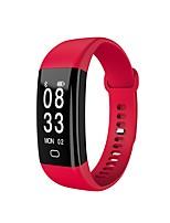 yy f09 hr pulseira inteligente frequência cardíaca monitor de pressão sanguínea esportes aptidão pulseira ip68 impermeável relógio de