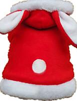 Cane Costumi Abbigliamento per cani Casual Tinta unita Rosso Rosa