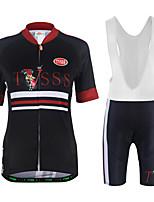 Maglia con pantaloncini da ciclismo Unisex Manica corta Bicicletta Felpa Maglietta/Maglia Pantaloncini imbottiti di protezione Set di