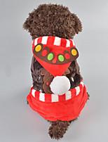 Hund Kostume Hundetøj Jul Rensdyr Brun Rød