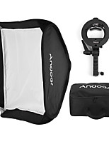 andoer photo studio multifonctionnel 40 * 40cm pliable softbox avec s-type handheld flash speedlite bracket avec montures et sac de