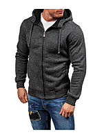 Men's Sports Casual/Daily Vintage Hoodie Solid Hooded Micro-elastic Cotton Long Sleeve Fall Winter