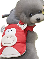 Dog Vest Dog Clothes Casual/Daily Cartoon Blue Red