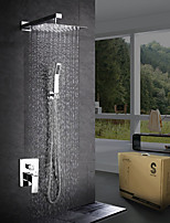 Modern/Comtemporary Shower System Rain Shower Handshower Included with  Ceramic Valve One Hole for  Chrome , Shower Faucet
