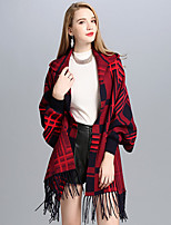 Women Others Infinity Scarf Plaid Spring/Fall Winter