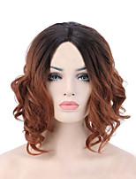 Women Synthetic Wig Capless Short Medium Natural Wave Jheri Curl Black/Medium Auburn For Black Women Ombre Hair Natural Hairline Bob