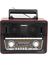 SM-1802 Radio portable Lecteur MP3 Torche Bluetooth Carte SDWorld ReceiverNoir Doré