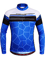 WOSAWE Cycling Jersey Unisex Long Sleeves Bike Jersey Top Quick Dry Breathability Stretchy Polyester Spandex Classic Autumn/Fall Mountain