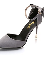 Women's Shoes PU Fall Basic Pump Heels Stiletto Heel Pointed Toe Bowknot For Casual Dress Blushing Pink Gray Black