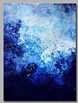 Hånd-malede Abstrakt Vertikal,Kunstnerisk Abstrakt Fødselsdag Moderne / Nutidig Kontor/Forretning Sej Jul Nytår Et Panel Kanvas