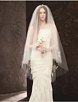 Wedding Veil Two-tier Blusher Veils Elbow Veils Cut Edge Tulle