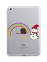 cheap -For iPad (2017) iPad 10.5 iPad Pro 12.9'' Case Cover Transparent Pattern Back Cover Case Christmas Soft TPU for Apple iPad pro 10.5 iPad