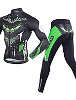 Cycling Jersey with Tights Men's Long Sleeves Bike Clothing Suits Quick Dry 3D Pad Stretchy Breathability Spandex 100% Polyester LYCRA®