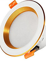 1Pc 3W LED Downlight Ceiling Light Dimmable Warm Yellow/Warm White/White AC220V Size Hole 100mm 3000/4000/6500K
