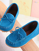 Boys' Shoes Suede Summer Fall Moccasin Comfort Loafers & Slip-Ons Bowknot For Casual Party & Evening Wine Blue Brown Fuchsia Yellow