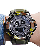 Per uomo Bambini Orologio sportivo Orologio alla moda Orologio da polso Quarzo LCD Calendario Resistente all'acqua Due fusi orari