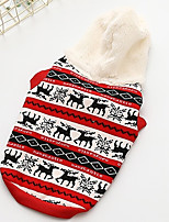 Dog Vest Dog Clothes Casual/Daily Geometric Red Yellow