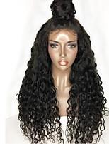 жен. Парики из натуральных волос на кружевной основе Перуанские волосы Натуральные волосы Бесклеевая сплошная кружевная основа 130%