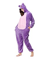 Kigurumi Pajamas Monkey Leotard/Onesie Festival/Holiday Animal Sleepwear Halloween Purple Animal Flannel Kigurumi For Unisex Halloween
