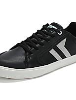 Da uomo Scarpe PU (Poliuretano) Primavera Autunno Suole leggere Sneakers Lacci Per Casual Nero Bianco/nero Bianco e verde
