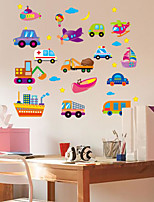 Transportation Wall Stickers Plane Wall Stickers Decorative Wall Stickers,Plastic Material Home Decoration Wall Decal